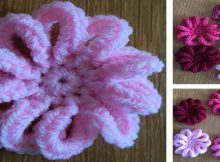 Pretty Loopy Crocheted Flowers | the crochet space