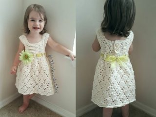 vintage crocheted toddler dress | the crochet space