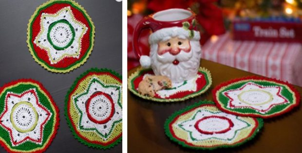 Crocheted Party Doily Coasters | the crochet space