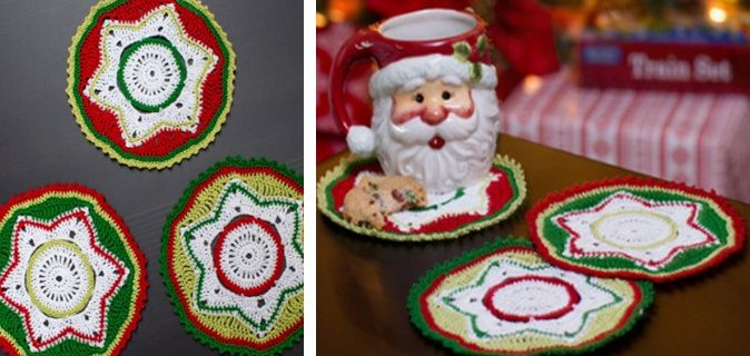 Crocheted Party Doily Coasters   the crochet space