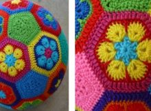 Crocheted African Flower Soccer Ball | the crochet space
