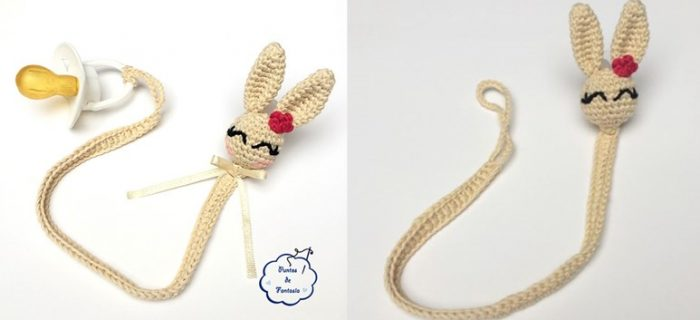 crocheted bunny pacifier string | the crochet space