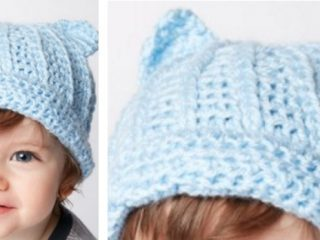 Adorable Crocheted Kitty Hat | The Crochet Space