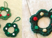 crocheted wreath ornaments | the crochet space