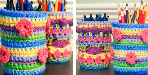 Mason Jar Crocheted Cozy | the crochet space