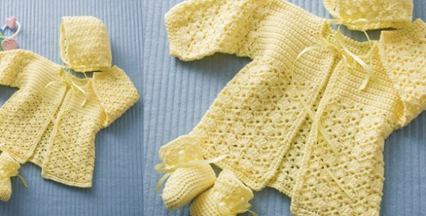 Lemon Drops Crocheted Baby Set [FREE Crochet Pattern]