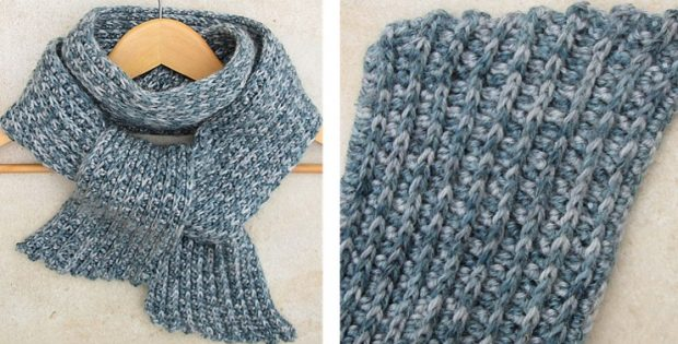 Cozy Ribbed Crocheted Scarf [FREE Crochet Pattern]