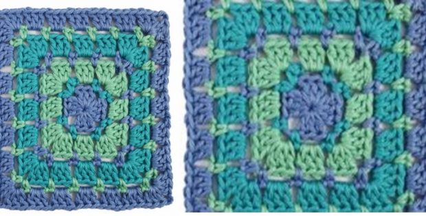 Block Stitch Crochet Square Free Pattern Photo Tutorial