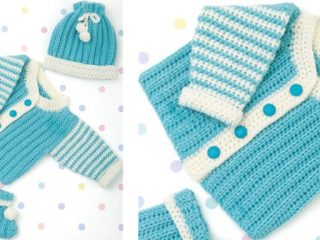 Crocheted Newborn Layette | the crocheted space