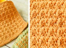 textured crocheted dishcloth | the crochet space