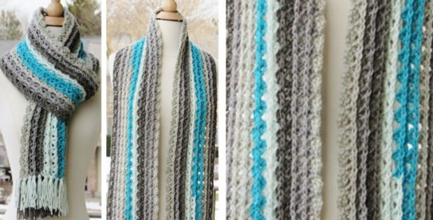 Ocean Waves Crocheted Scarf | the crochet space