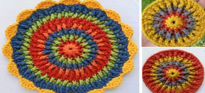 Front Post Frenzy Crocheted Potholder | the crochet space