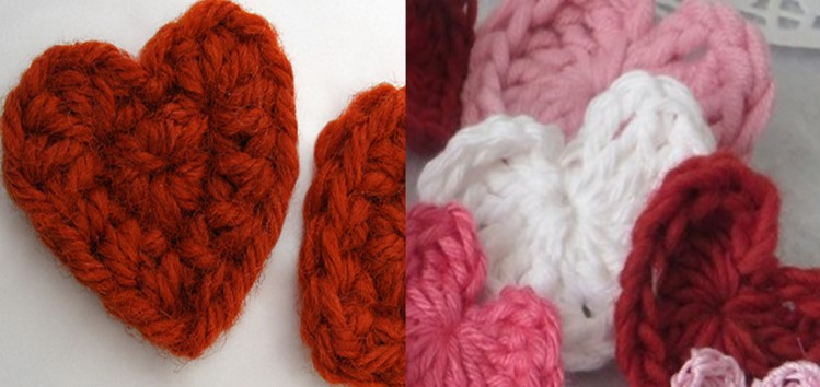 Easy Crocheted Mini Hearts | the crocheted space