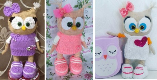Super Cute Crocheted Owl In A Dress [FREE Crochet Pattern]