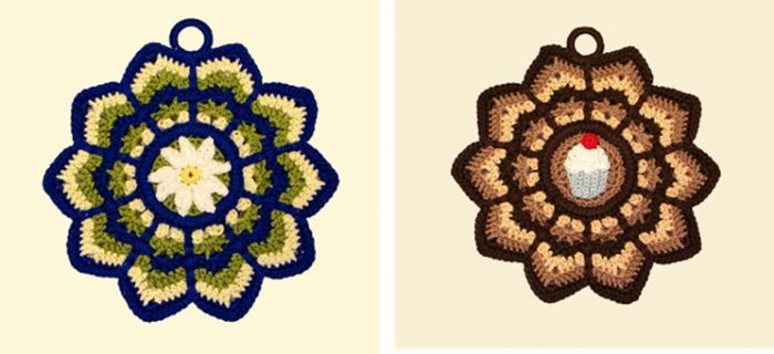 Attractive Ripple Crocheted Potholder | the crochet space
