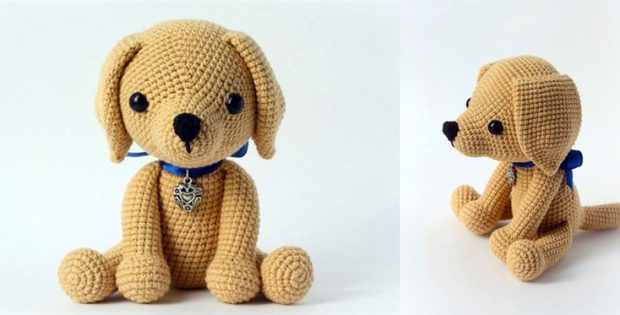Cute Crocheted Lucky Puppy [FREE Crochet Pattern]