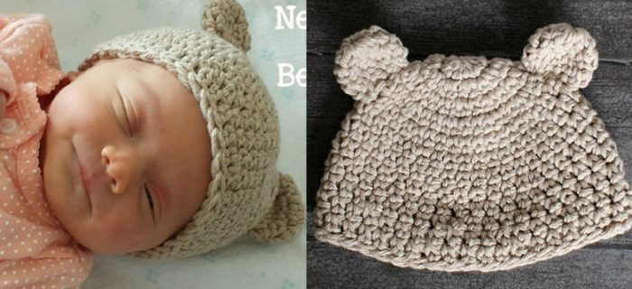 Newborn Crocheted Bear Hat | the crochet space