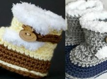 Cute Fuzzy Crocheted Baby Booties | the crochet space