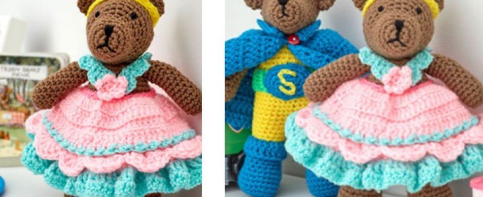 Crocheted Princess Bear Play Set [FREE Crochet Pattern]