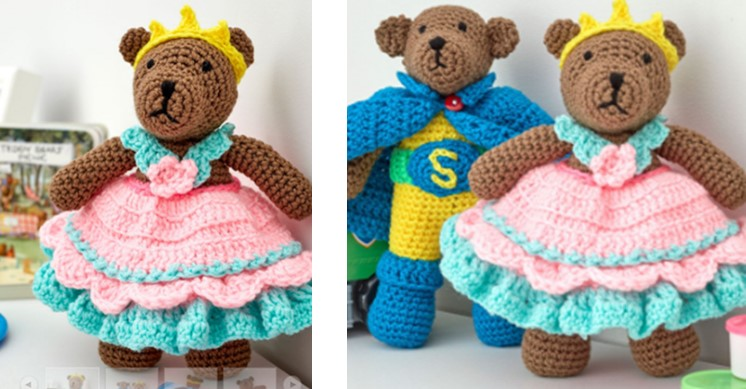 Crocheted Princess Bear Play Set | the crochet space