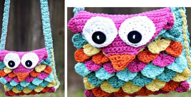 Super Fun Crocheted Owl Purse Free Crochet Pattern