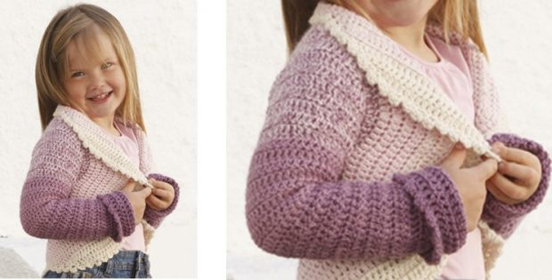 Princess Petal Crocheted Circle Jacket | the crochet space