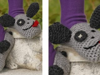 Silly Puppy Crocheted Dog Slippers   the crochet space