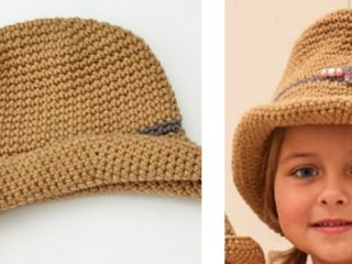 Stylish Child's Crocheted Cowgirl Hat | the crochet space