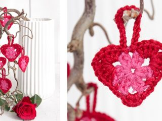 Delightful Crocheted Hanging Hearts | the crochet space