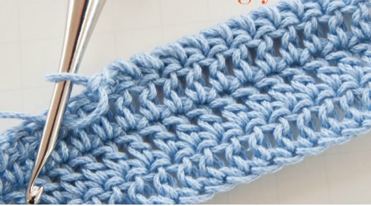 Twisted Single Crochet Stitch| the crochet space