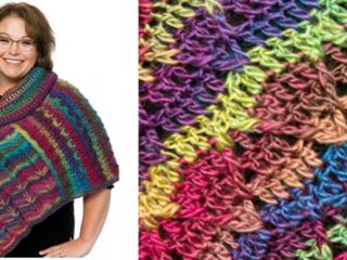 Marly's Perfect Dramatic Crocheted Cowl Poncho | the crochet space