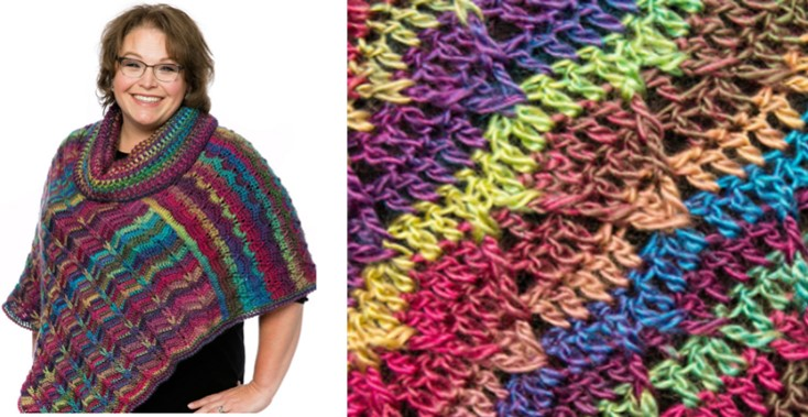 Marlys Perfect Dramatic Crocheted Cowl Poncho Free Crochet Pattern