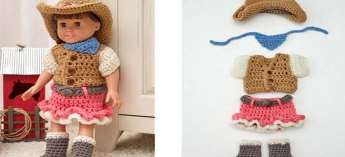 Crocheted Dollie Cowgirl Outfit | the crochet space