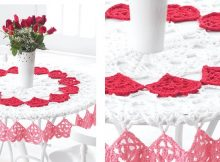 Crocheted Valentines Tablecloth | the crochet space