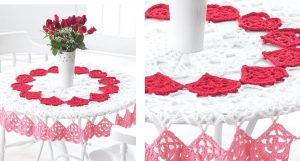 Easy Heart Crochet Tablecloth | the crochet space