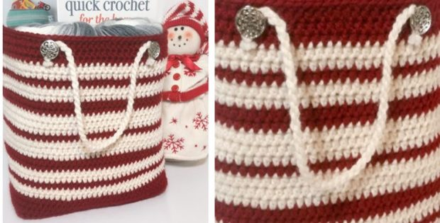 Stylish Favorite Crocheted Gift Bag | the crochet space