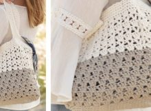 Stylish Two-Tone Crocheted Lace Bag | the crochet space