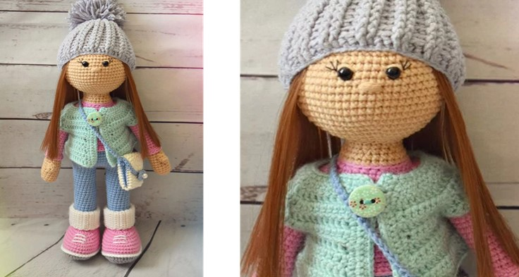 Molly Crocheted Amigurumi Doll| the crochet space
