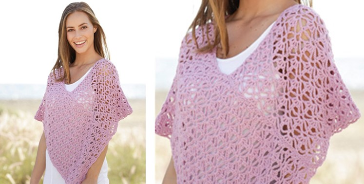 Arabella Crocheted Lace Poncho | the crochet space