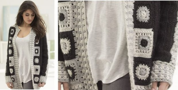 Graphic Statement Crocheted Cardigan | the crochet space
