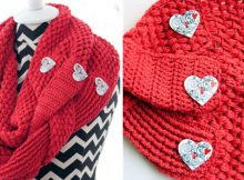 Super Cute Crocheted Love Infinity Scarf | the crochet space