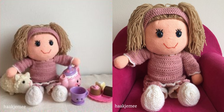 Adorable Crocheted Big Doll | the crochet space