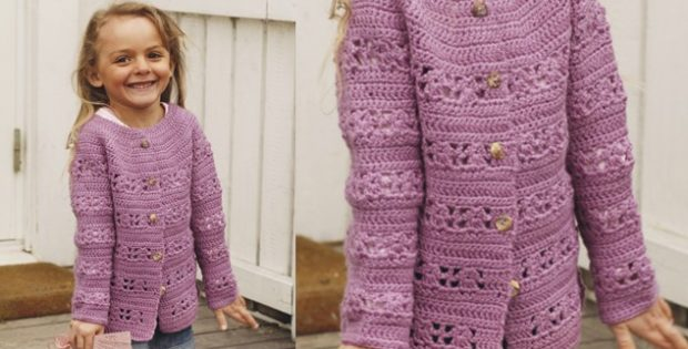 Amelie Smiles Crocheted Lace Jacket Free Crochet Pattern
