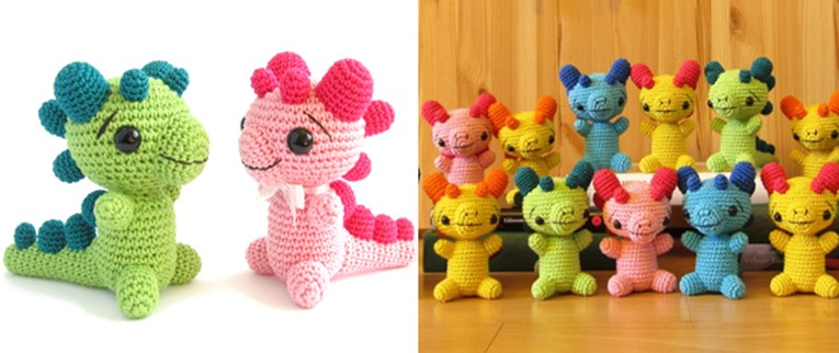 Crocheted Baby Dragon Rattle   the crochet space