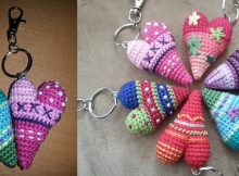 Crocheted Heart Key Rings | the crochet space