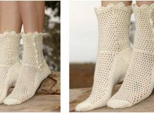 Lisbeth crocheted lace socks | the crochet space