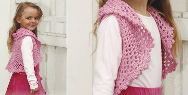 Pink Twist Crocheted Bolero Free Crochet Pattern