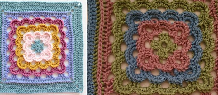 Yarn Clouds Crocheted Square | the crochet space