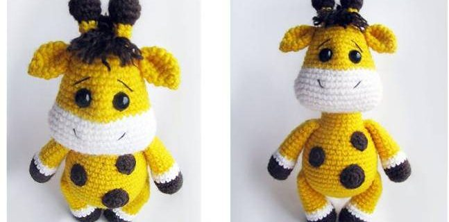 adorable crocheted baby giraffe | the crochet space