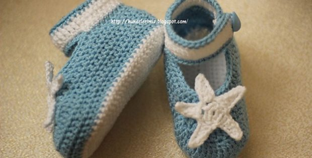 adorable crocheted baby booties | the crochet space
